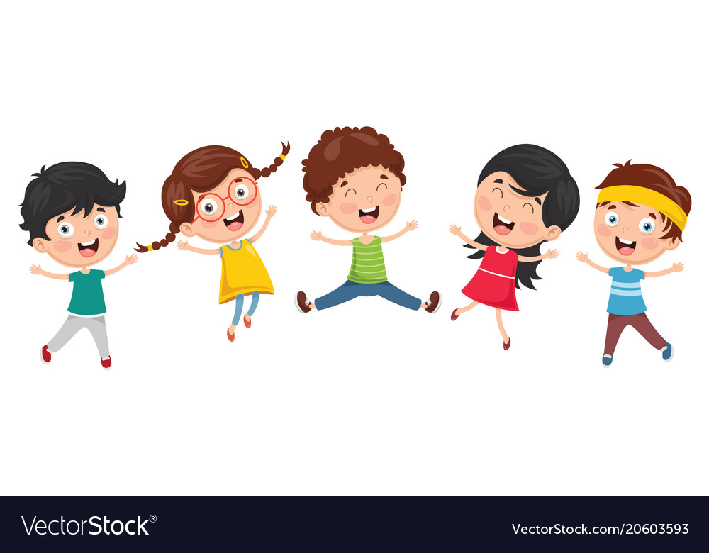 Kids playing outside Royalty Free Vector Image