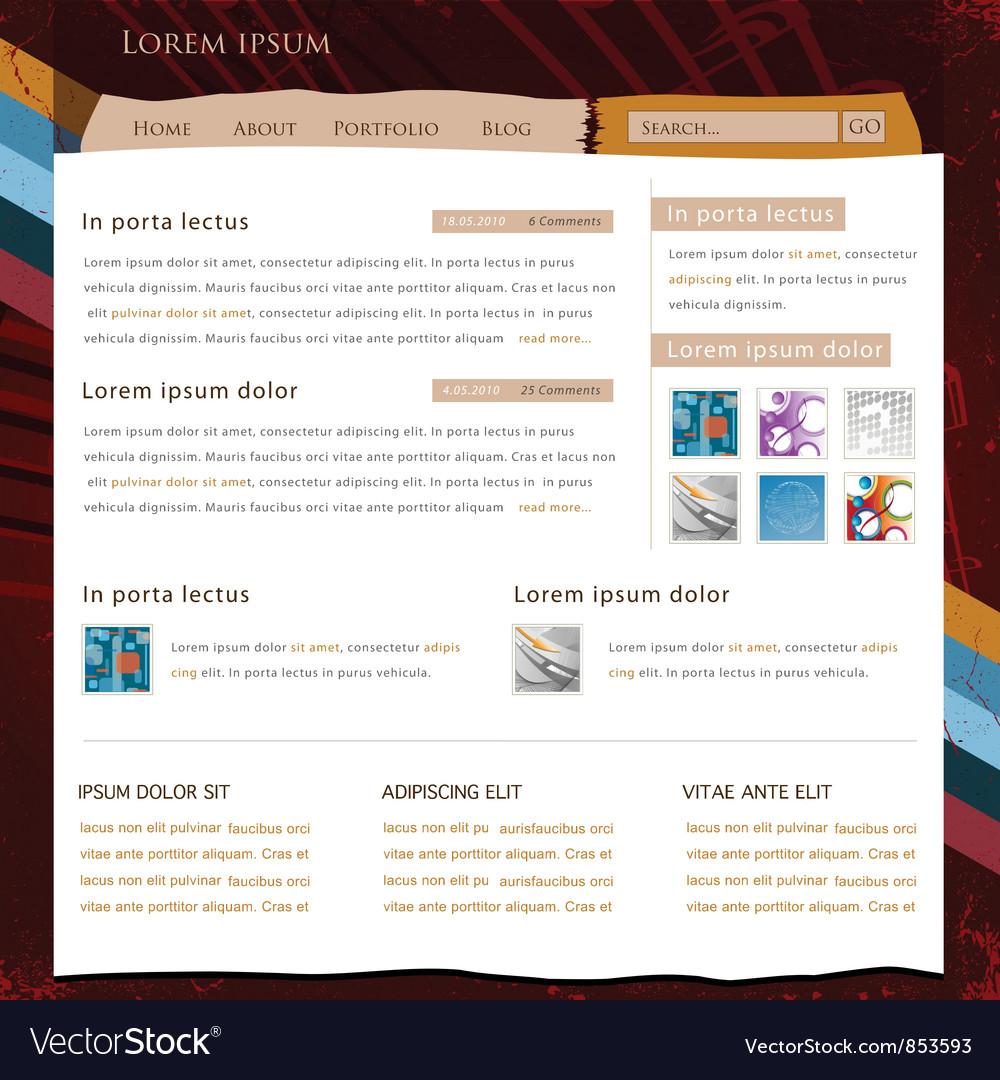 Retro website template