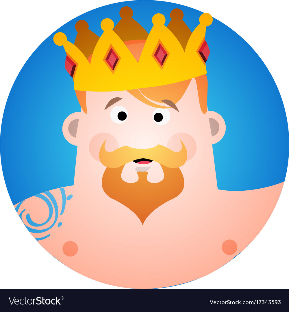 Round Sticker With A Man In Crown Cartoon Vector Image Download this premium vector about avatar man cartoon with crown design, and discover more than 9 million professional graphic resources on freepik. vectorstock