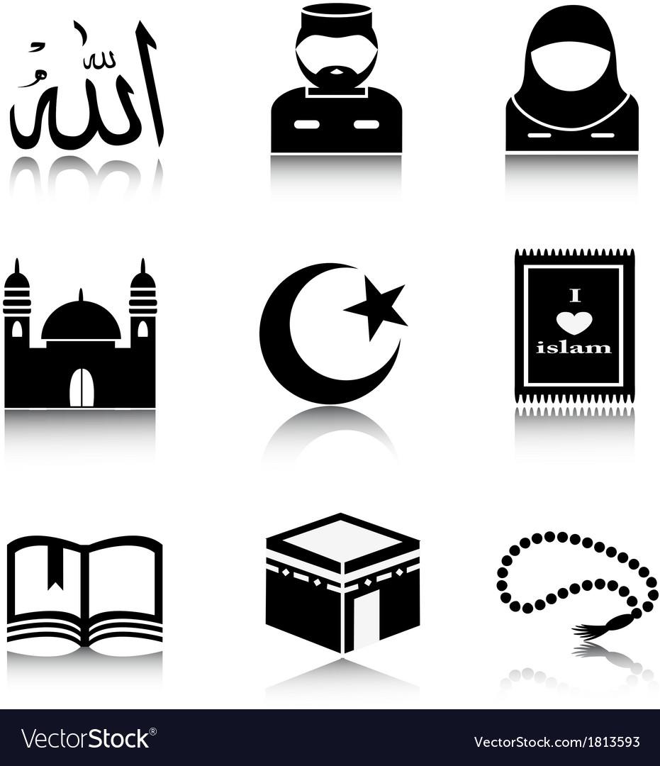 set of islam icons royalty free vector image vectorstock vectorstock