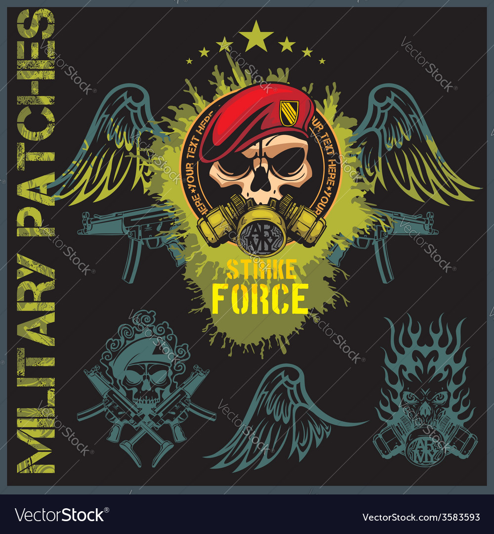 Special forces patch set - stock