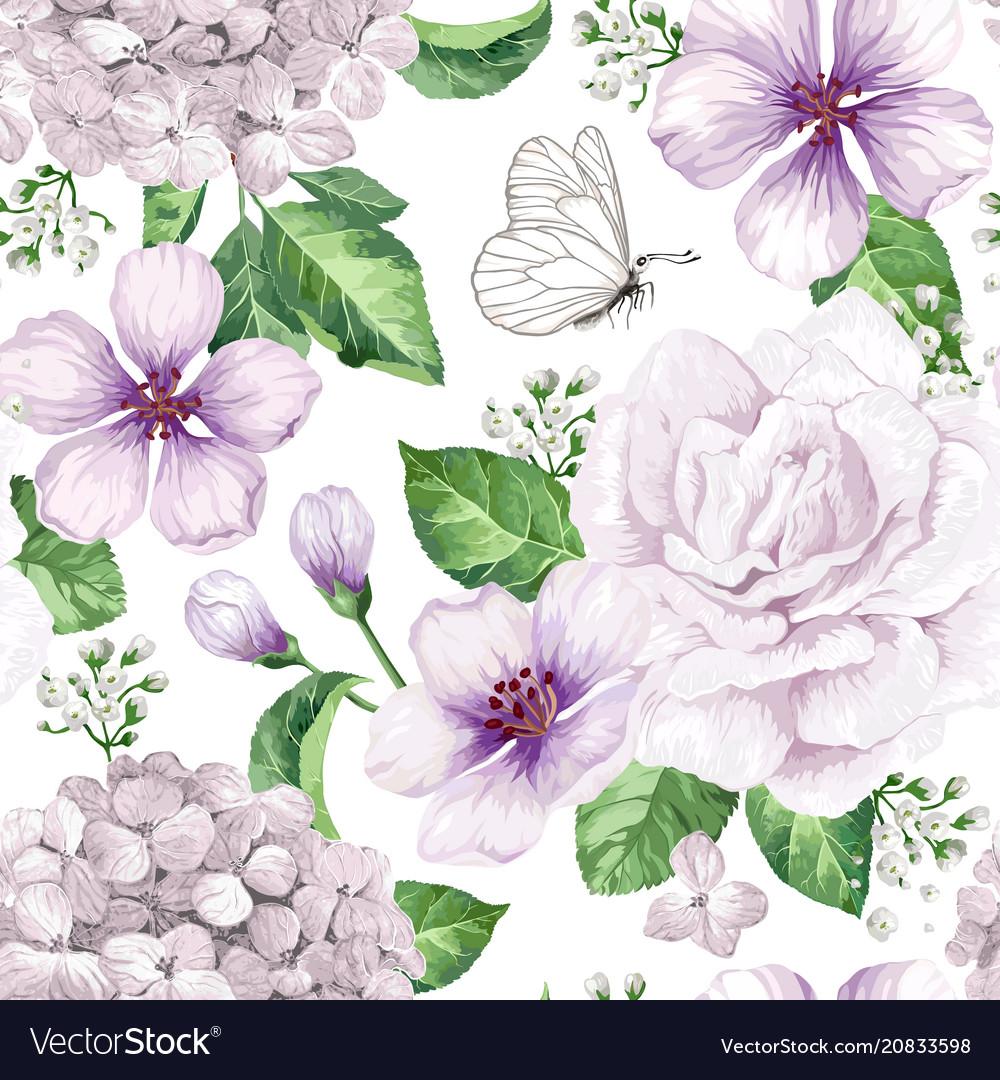 Apple tree flowers hydrangea flowerspetals and