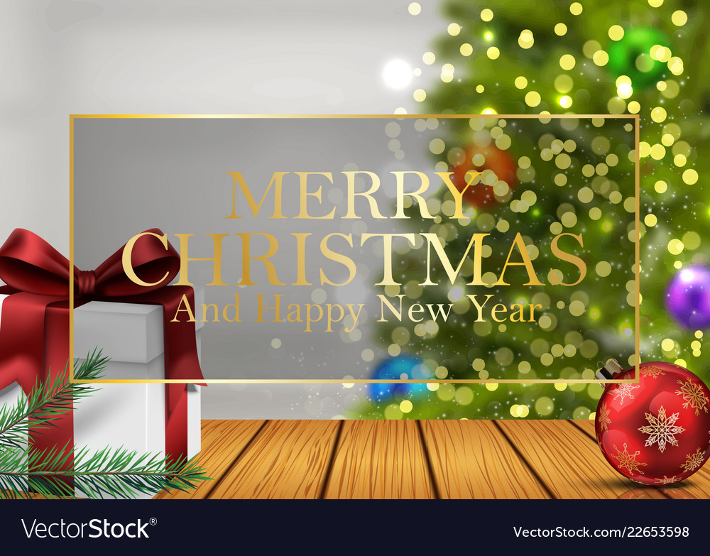 Christmas background with gifts balls
