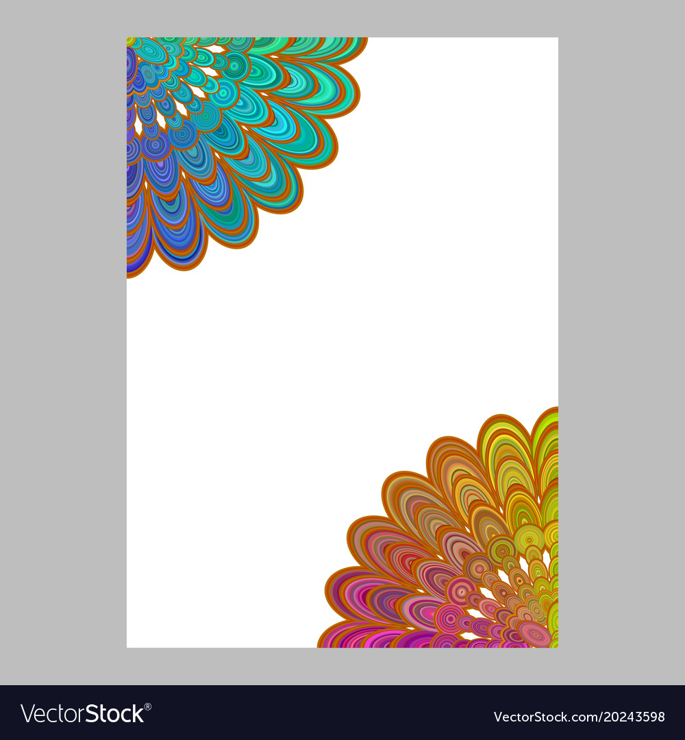 Colorful abstract floral mandala page background