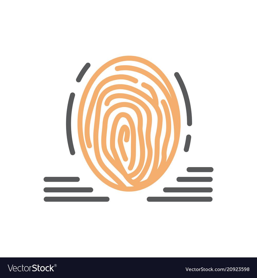 Fingerprint icon line isolated