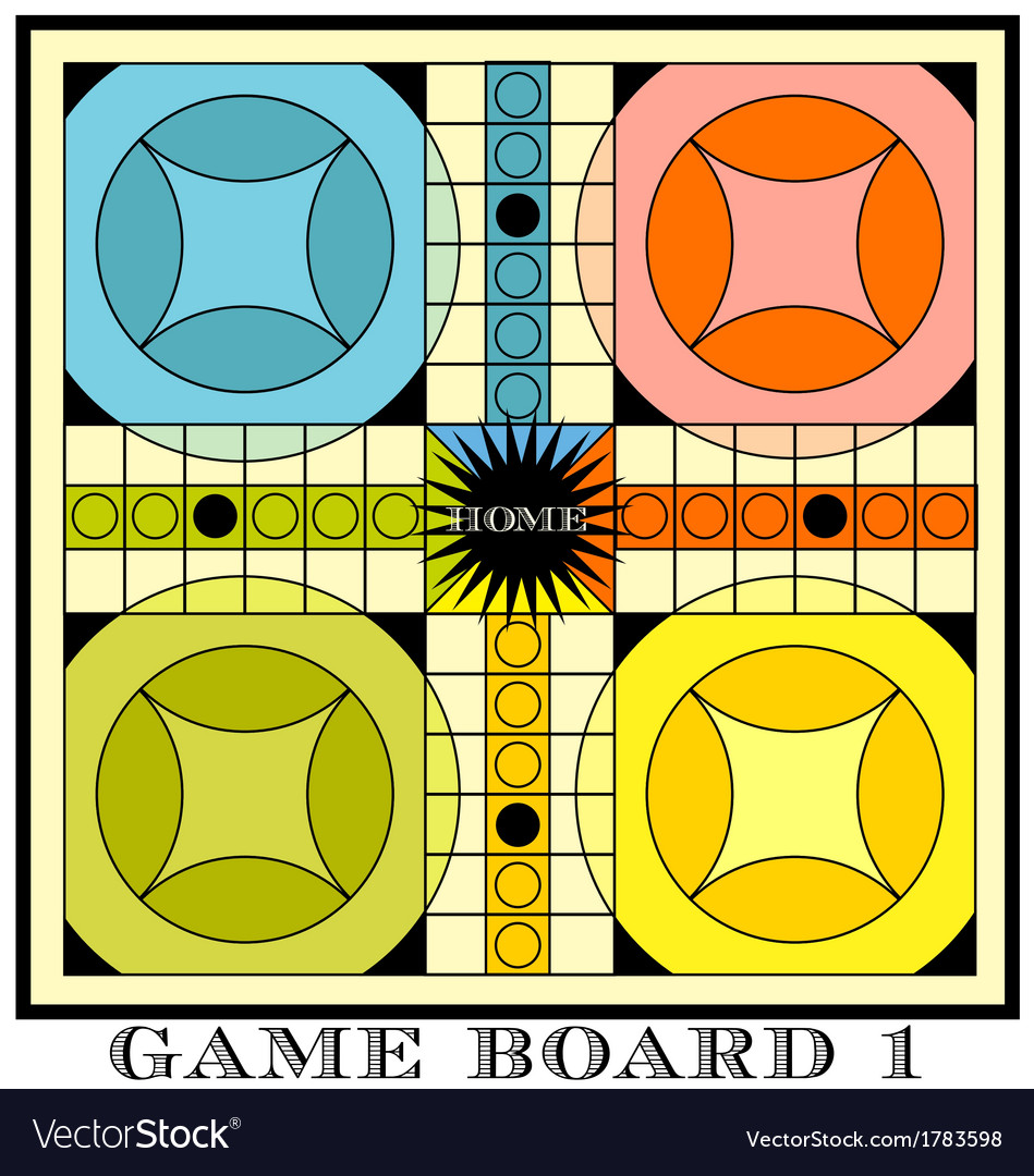 Game Board For Parcheesi Royalty Free Vector Image