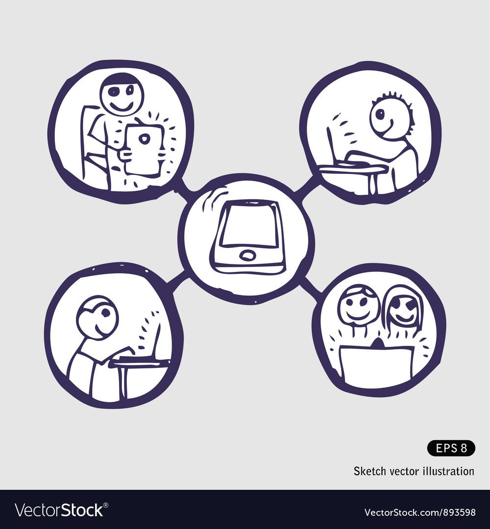 Internet community icon set