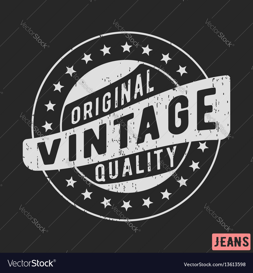 Original vintage stamp vector image