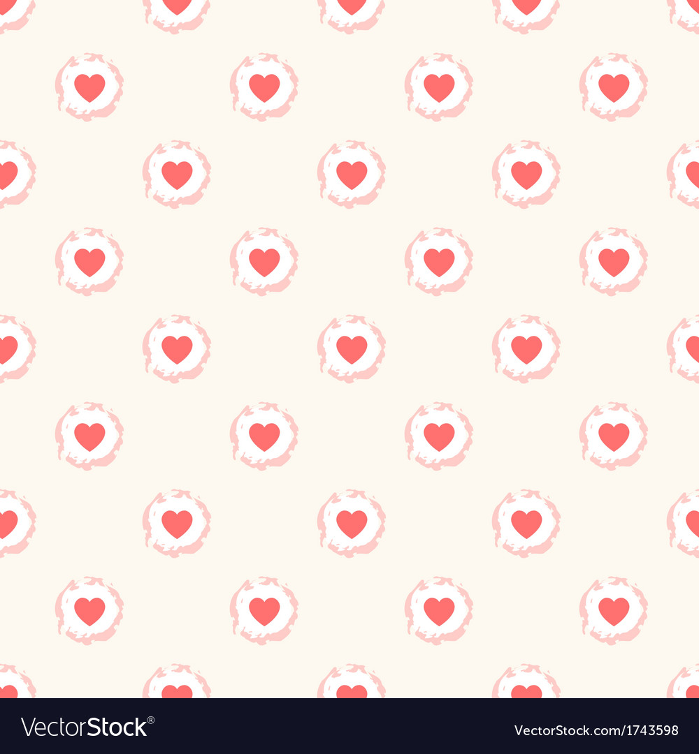 Seamless geometric cute pattern with hearts vector image voltagebd Gallery