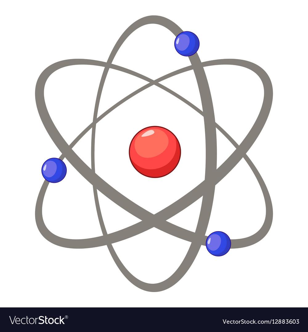 Atom icon cartoon style