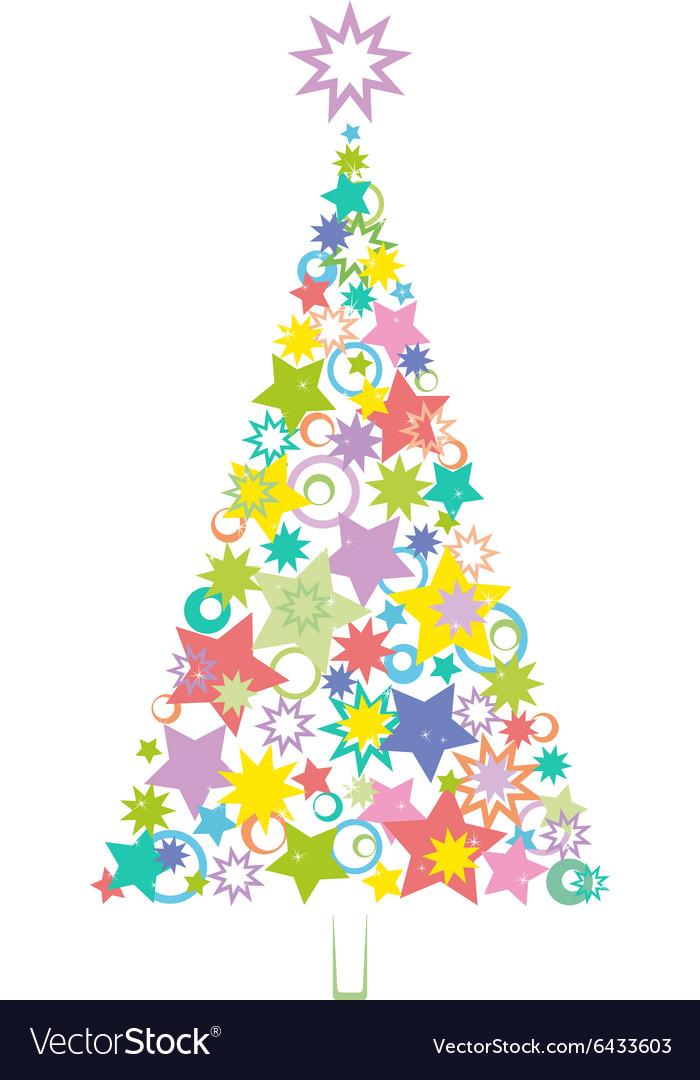 Cartoon Christmas Holiday Tree vector image