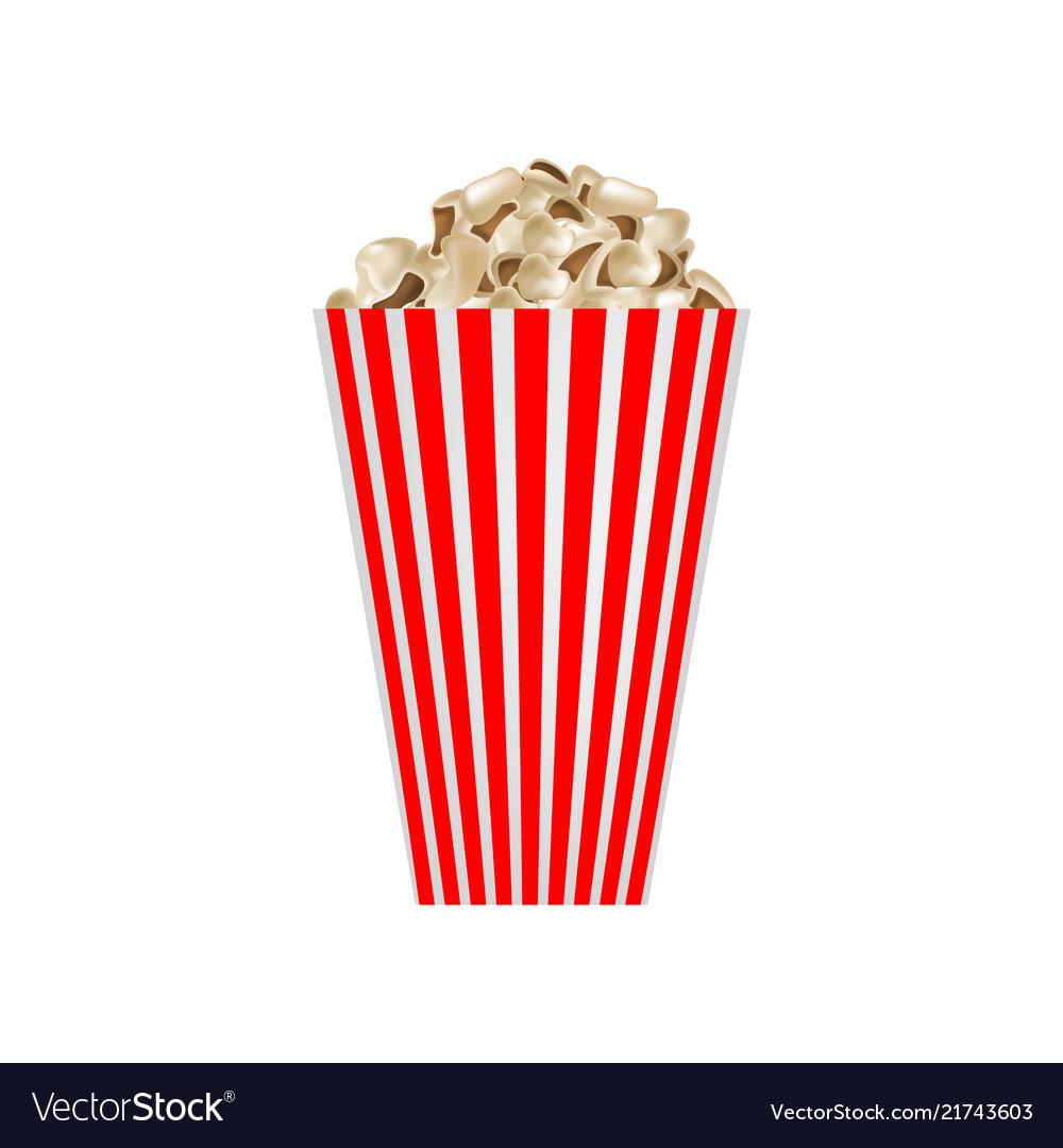 Cinema popcorn mockup realistic style