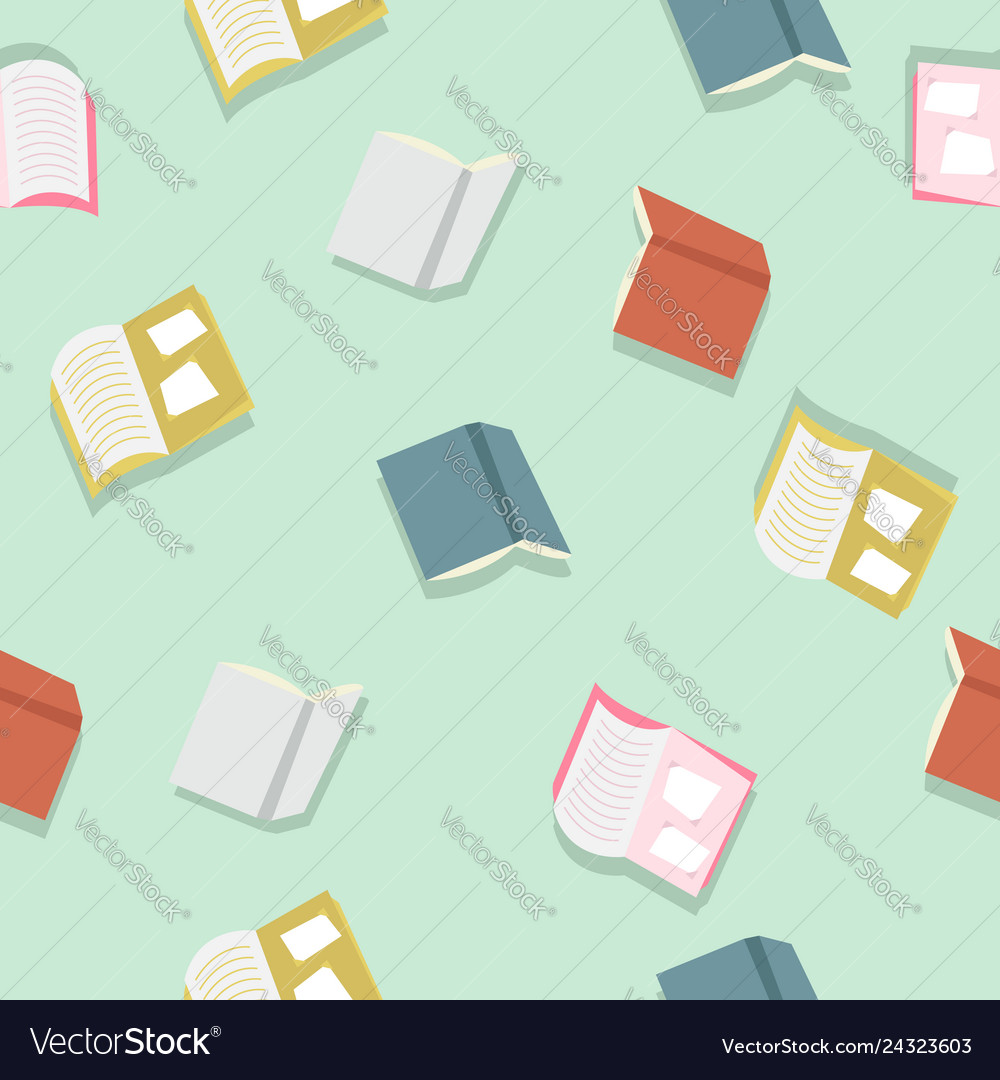 Colorful books pattern