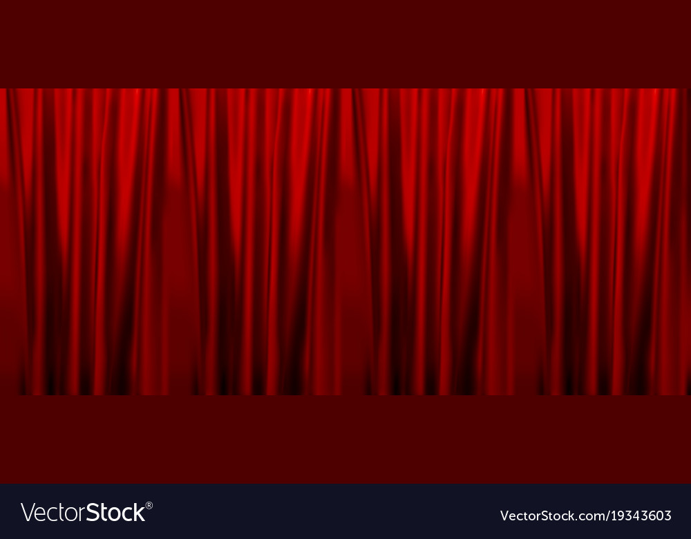 Colorful naturalistic gradient red curtains