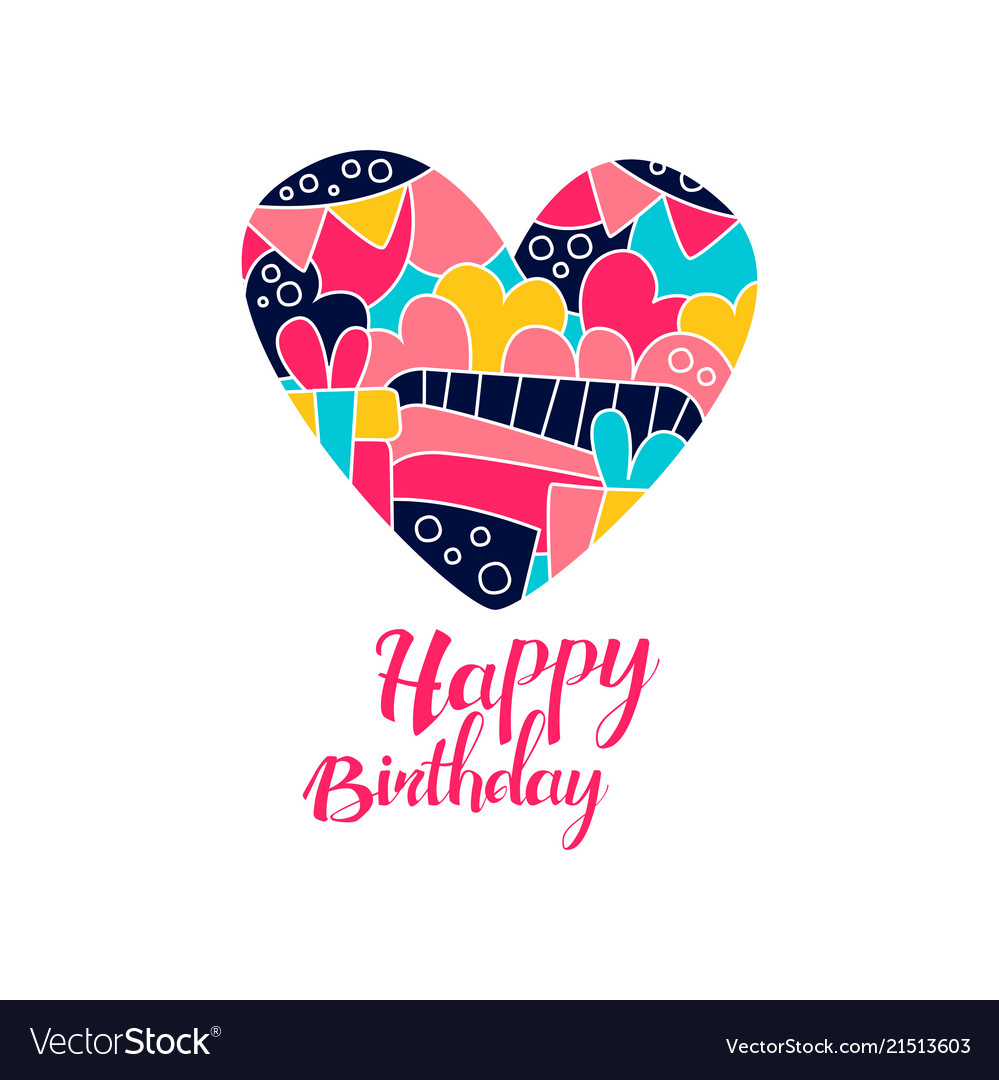 Happy birthday day logo creative template with