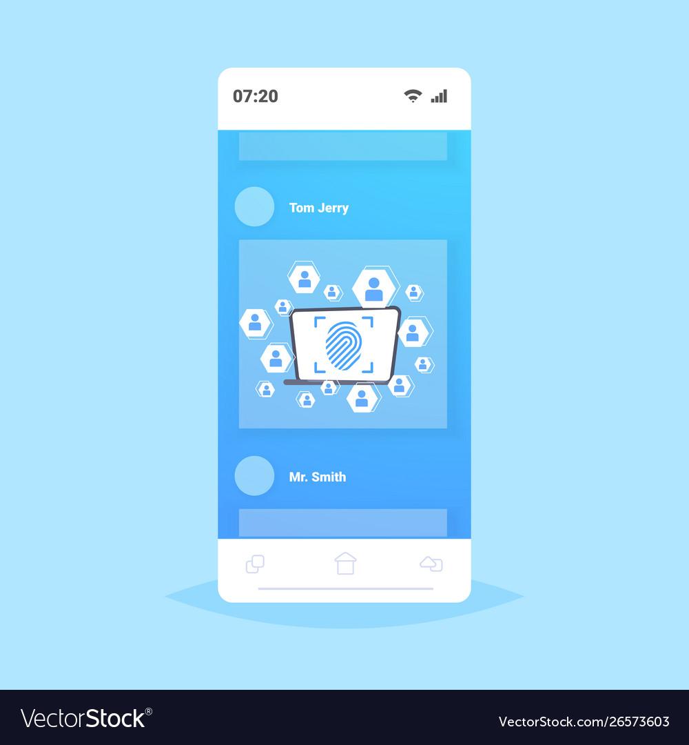 Online mobile application biometric fingerprint