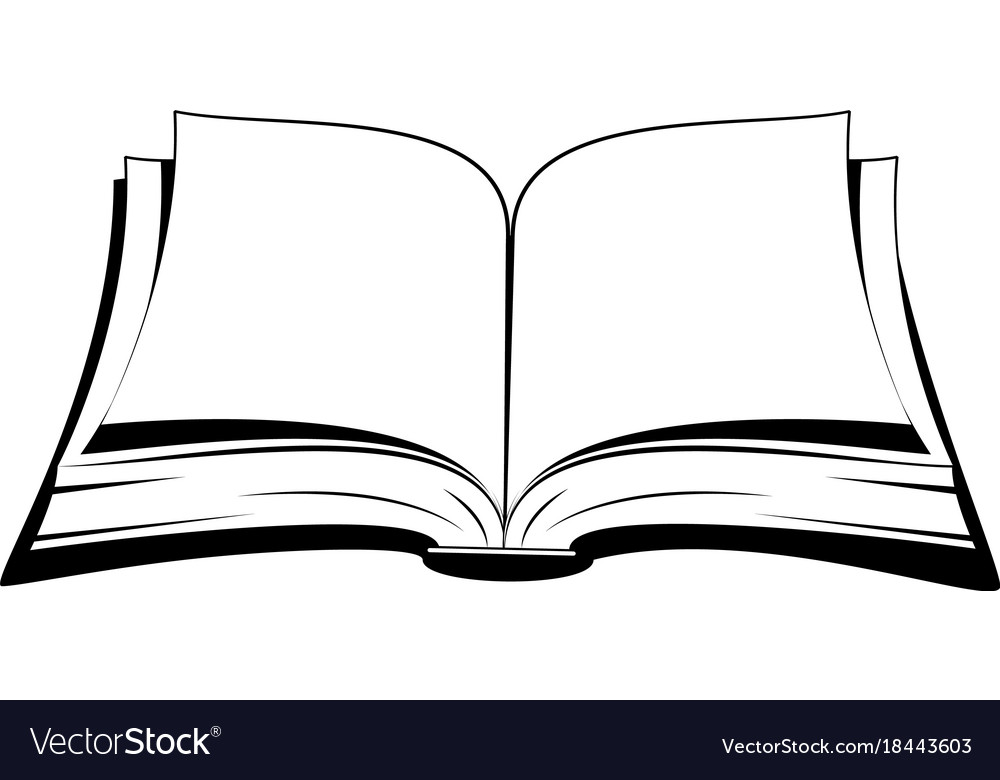 open book royalty free vector image vectorstock