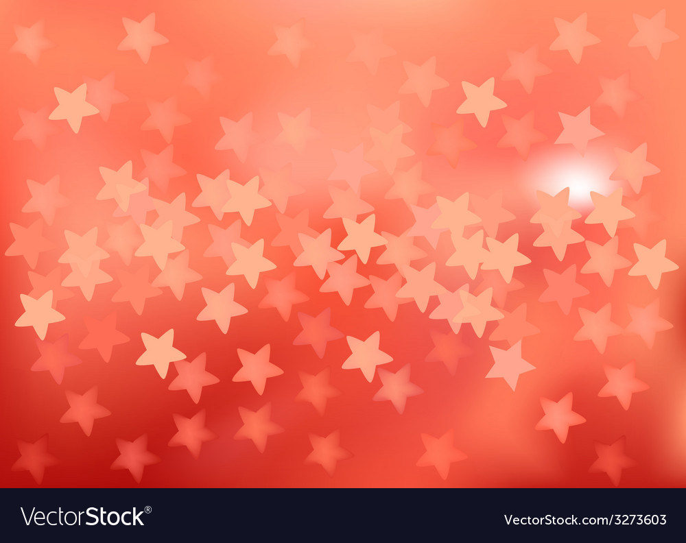 Red festive lights in star shape background