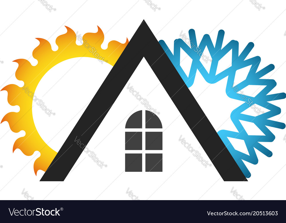 Roof Of The House Air Conditioner Symbol Vector Image