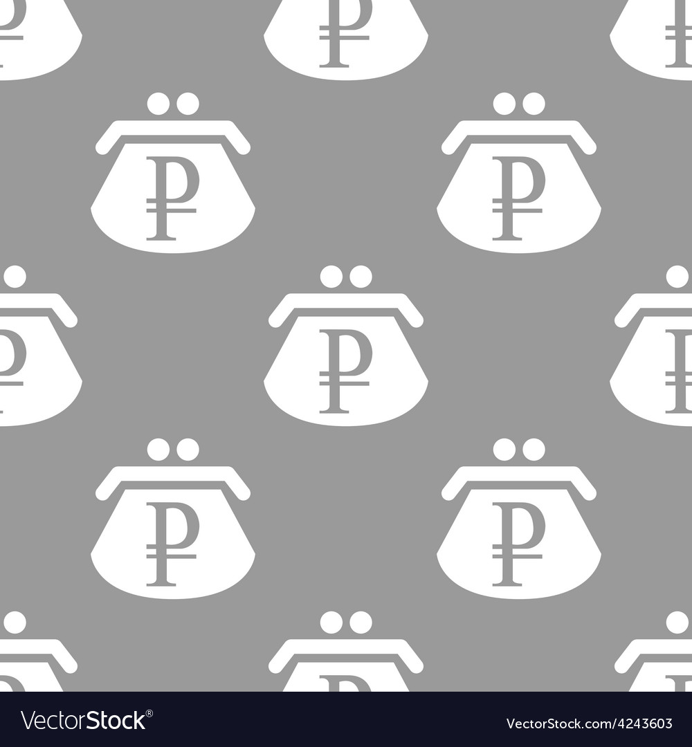 Rouble purse seamless pattern