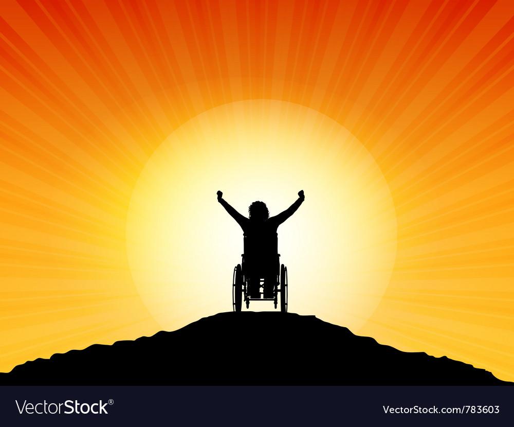Wheelchair success vector image