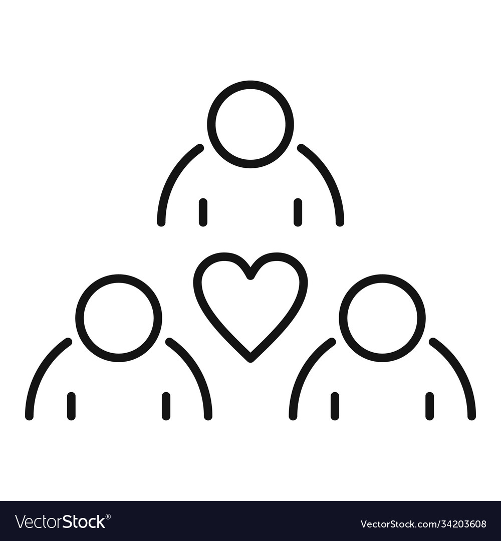 Affection group people icon outline style
