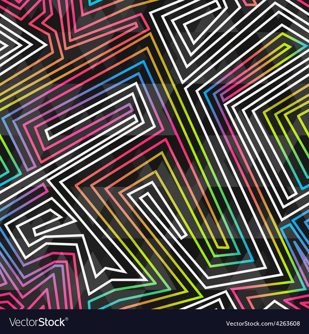Bright neon seamless pattern vector image