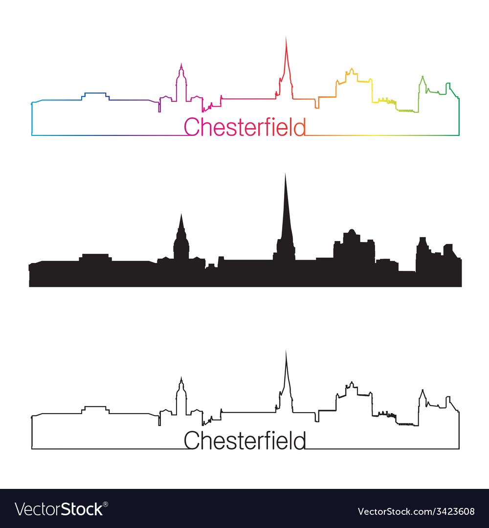 Chesterfield skyline linear style with rainbow