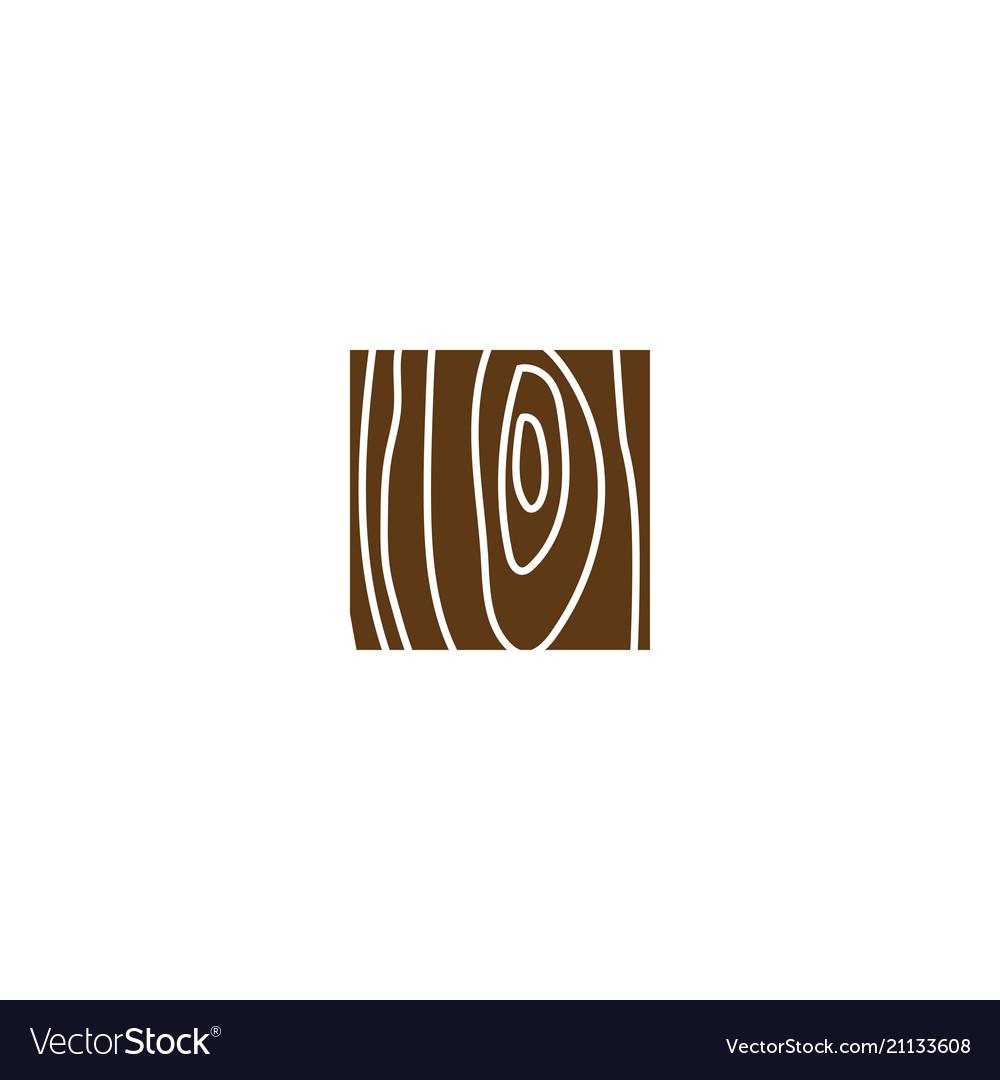Clean wood logo design template