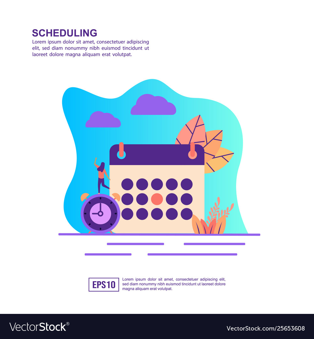 Concept scheduling modern conceptual for