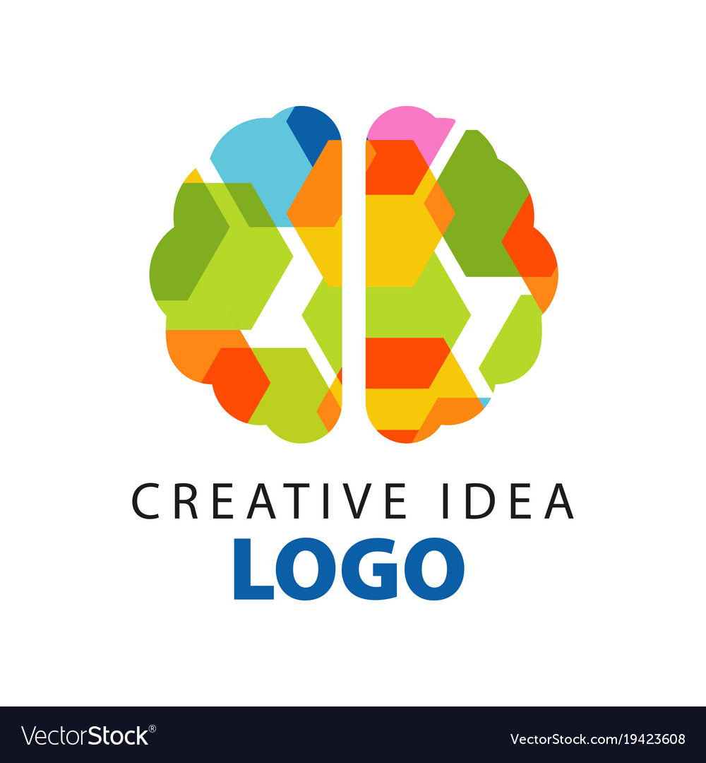 Creative idea logo template with abstract colorful