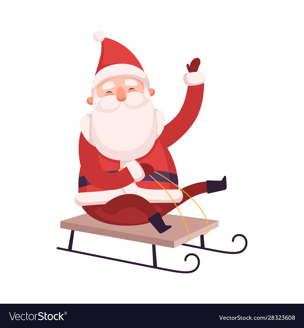Funny santa claus cute christmas and new year