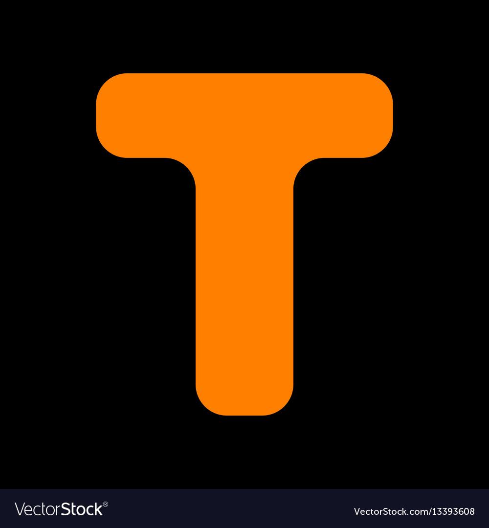 Enement Letter   Letter T Sign Design Template Element Orange Icon Vector Image