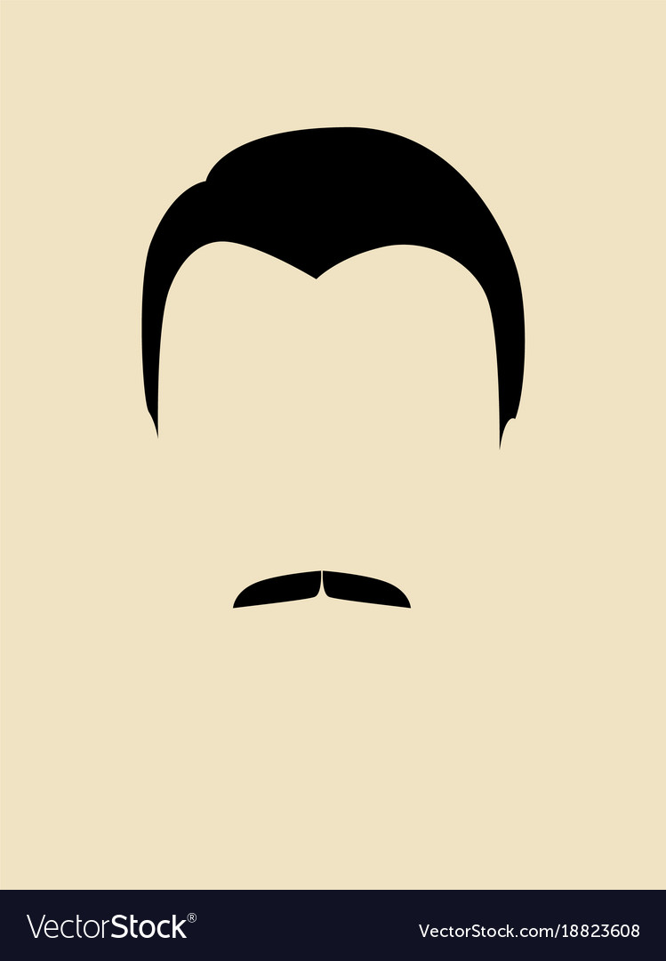 Man face with mustache