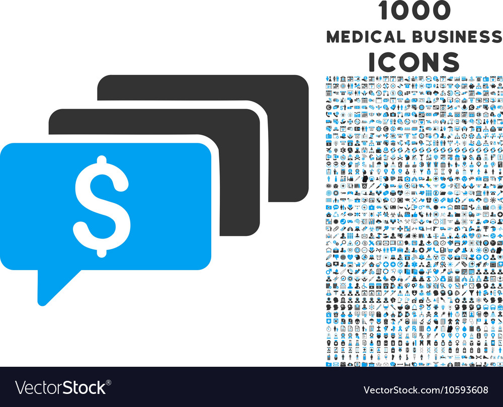 Money Messages Icon with 1000 Medical Business