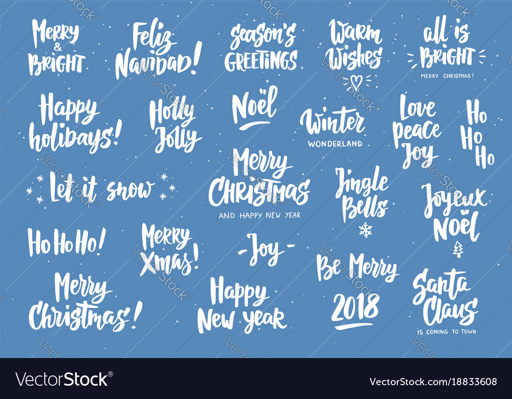 Set Of Holiday Greeting Quotes And Wishes Hand Vector Image Mesmerizing Holiday Wishes Quotes