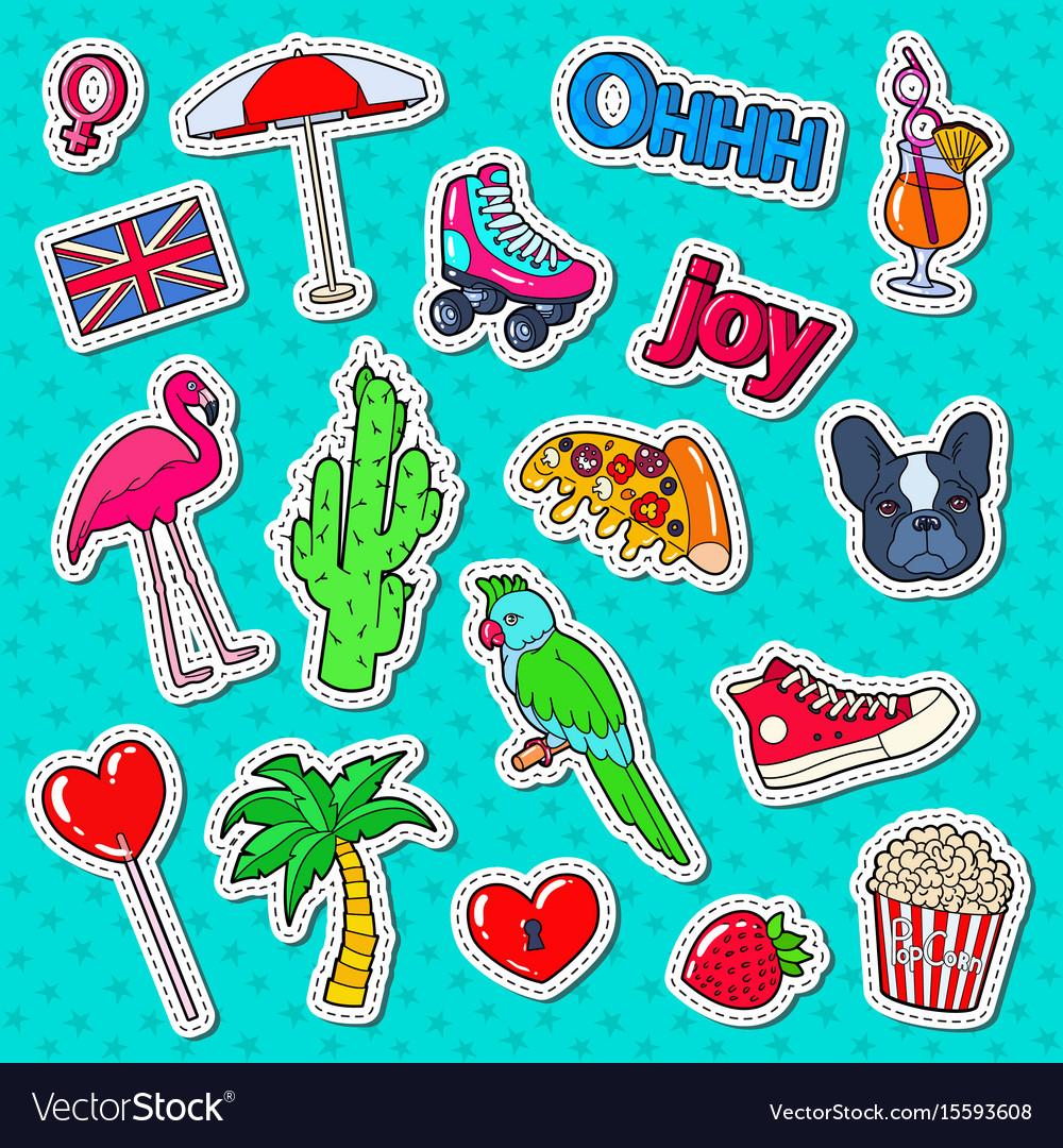 Teenager fashion lifestyle stickers badges