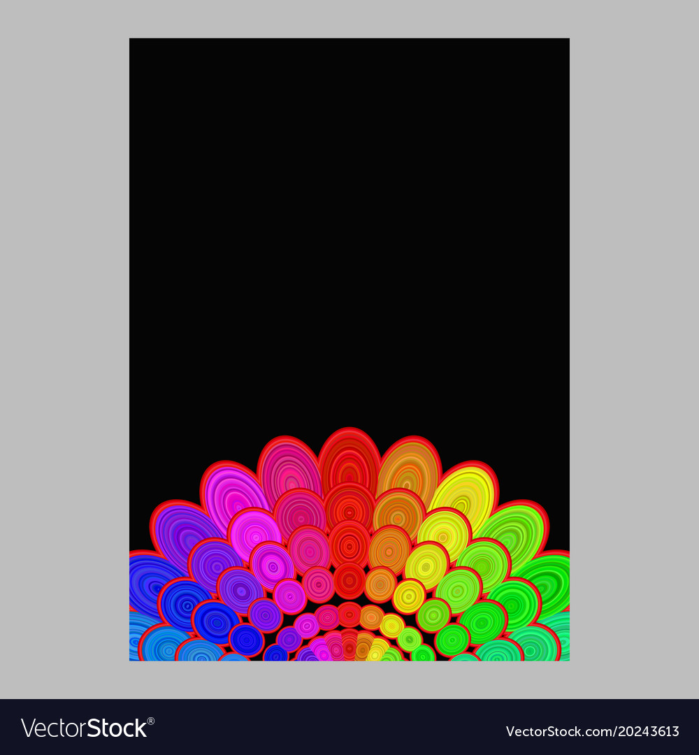 Colorful abstract flower mandala page background