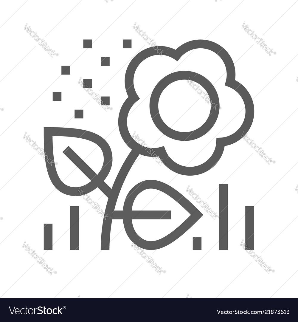 Flower pollen line icon