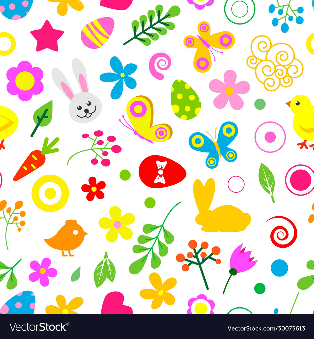 Happy easter seamless pattern easter