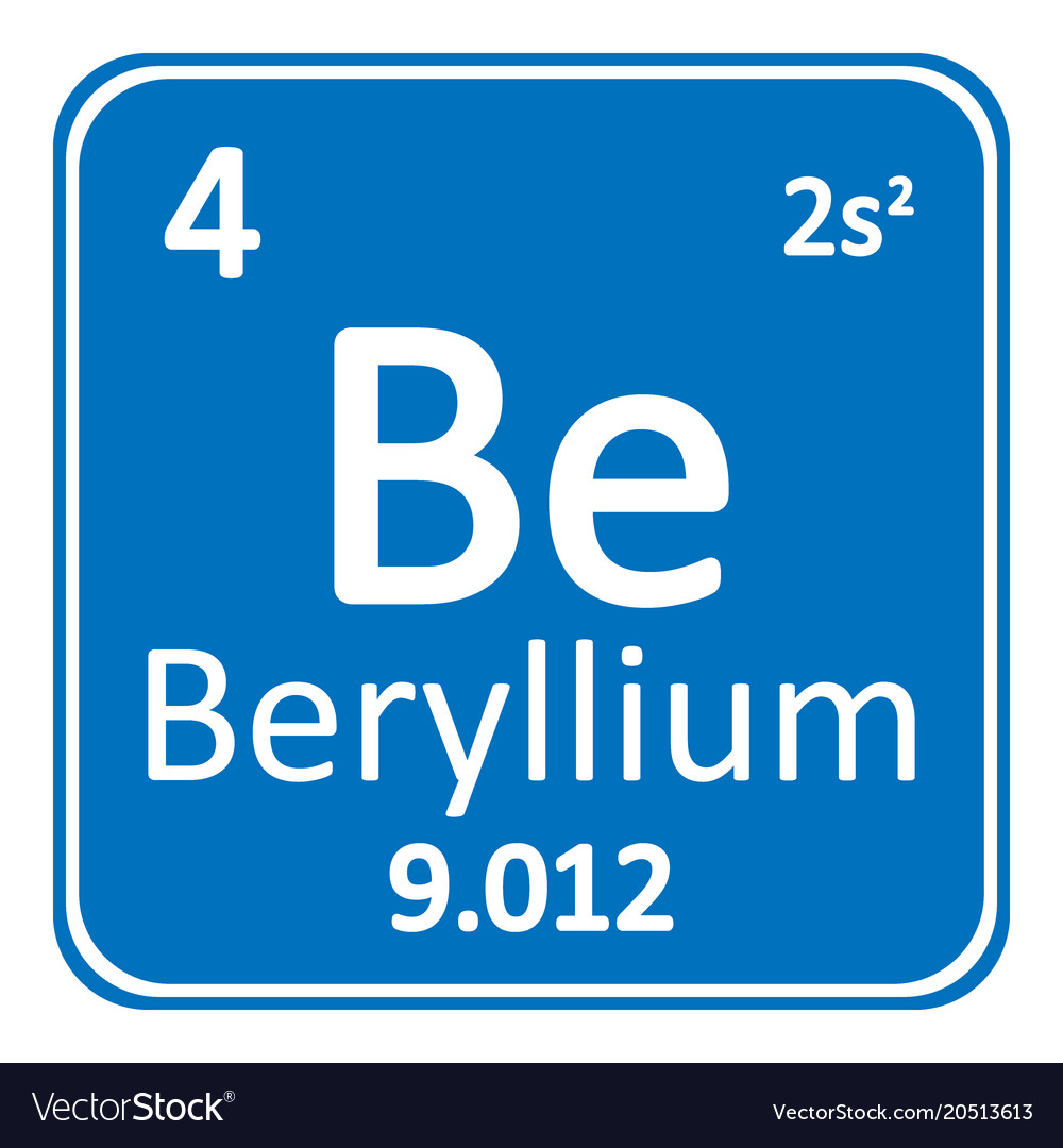 Periodic table element beryllium icon royalty free vector periodic table element beryllium icon vector image urtaz Choice Image
