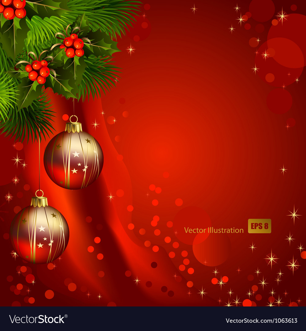 red christmas background vector image - Red Christmas Background