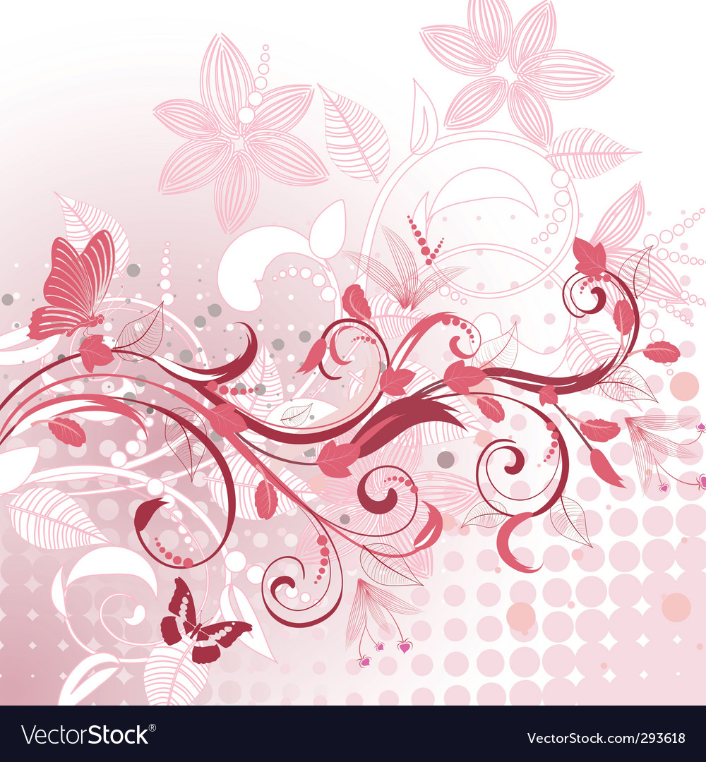 Abstract flower pattern plant