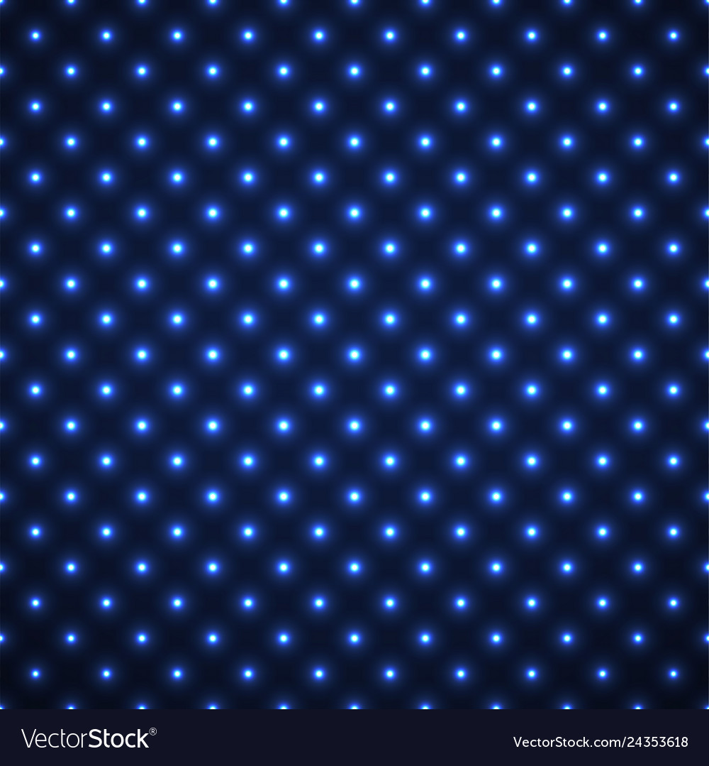 Abstract seamless pattern with glowing dots neon