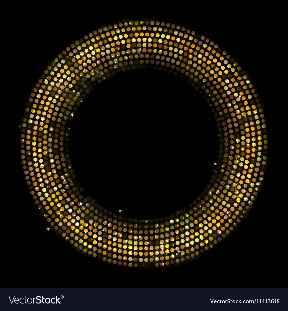 Circle Radius Abstract Golden Background