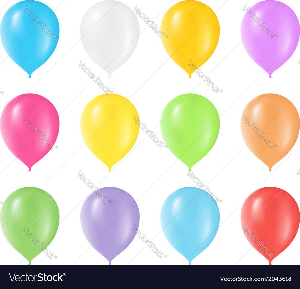 Colored Balloons vector image