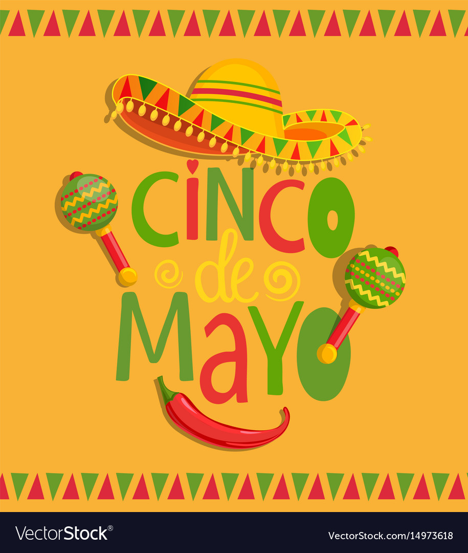 Hand drawn lettering - cinco de mayo