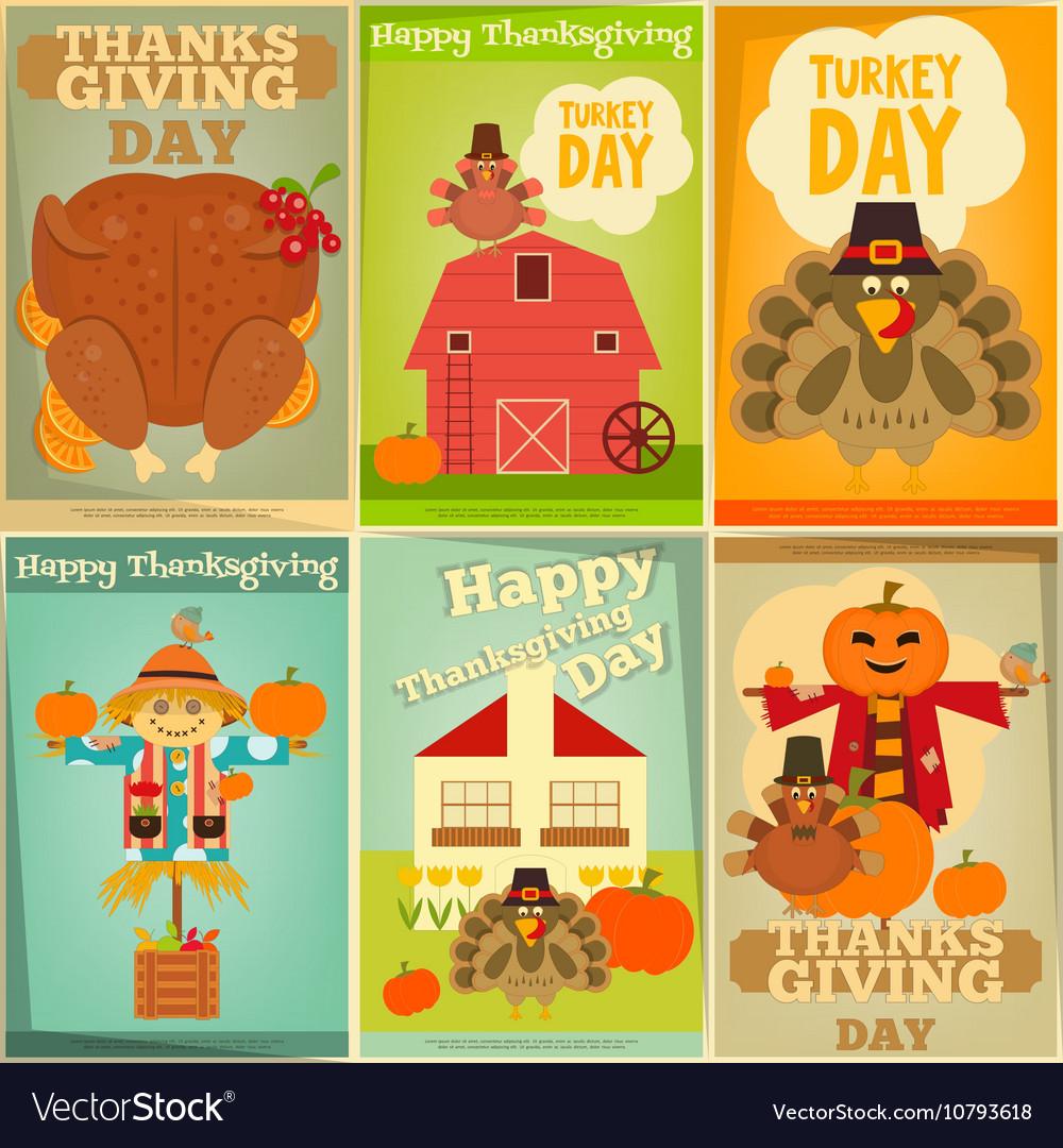 Happy Thanksgiving Greeting Card Set