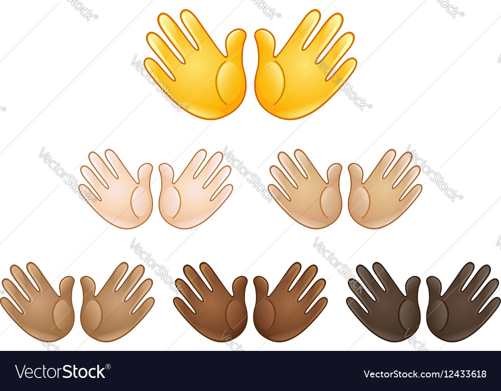 Open hands sign emoji Royalty Free Vector Image