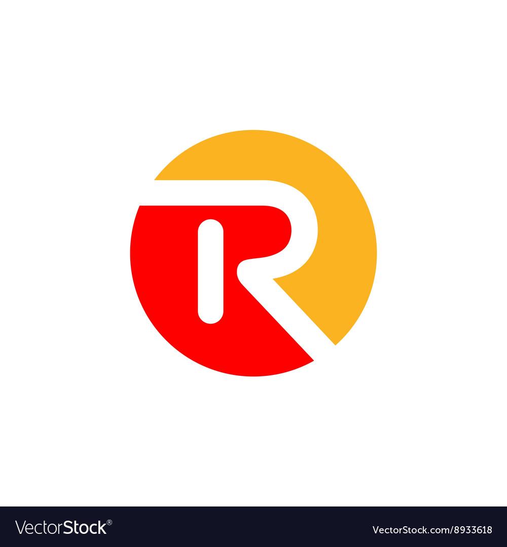 R Logo Design Royalty Free Vector Image Vectorstock